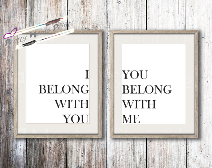 I belong to you Print set