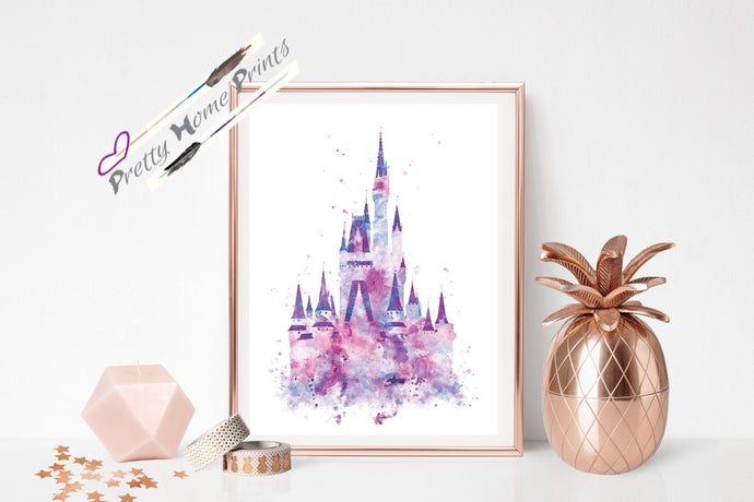 Castle Watercolour splash print