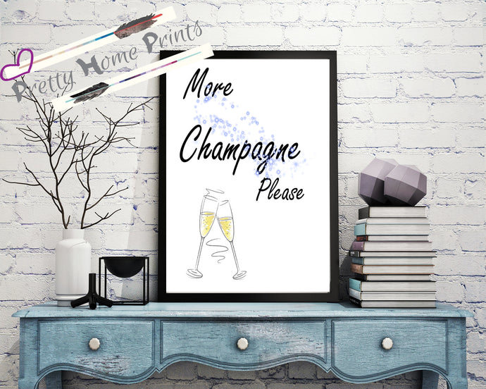 Home decor champagne wall art