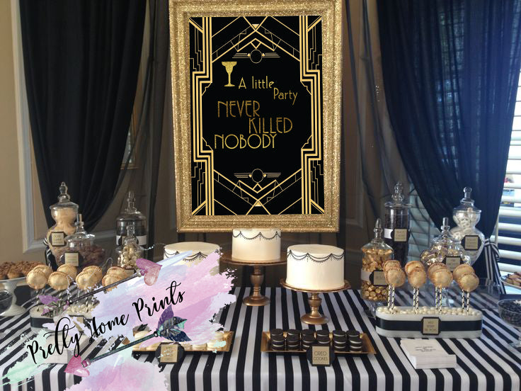 c446eb4251bd Great Gatsby Sign party decor