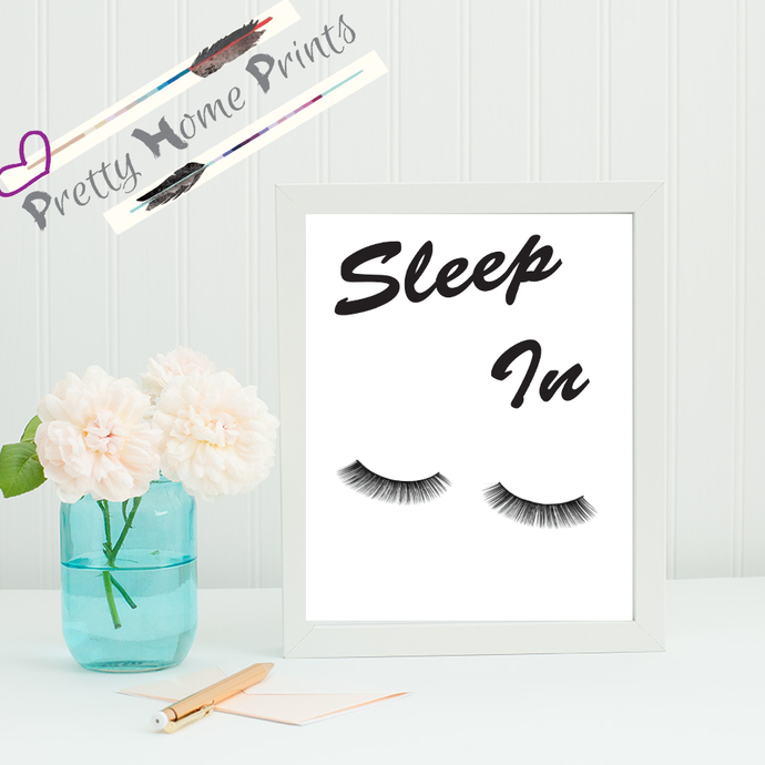 Sleep in Home decor Print A5