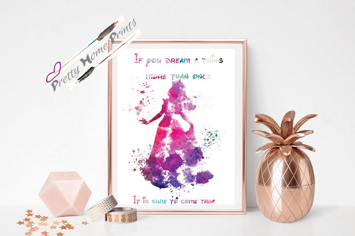 Sleeping Beauty Quote print *New Design