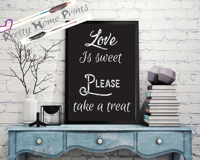 Sweet table/trolley sign A4