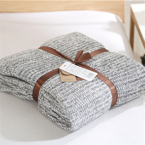 Knitted Grey Throws