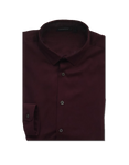 Homme Maroon Slim-Fit Shirt