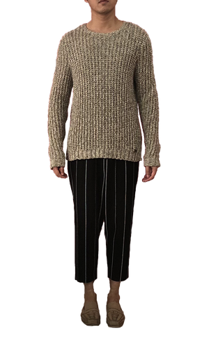 Homme Camel Knitted Sweater