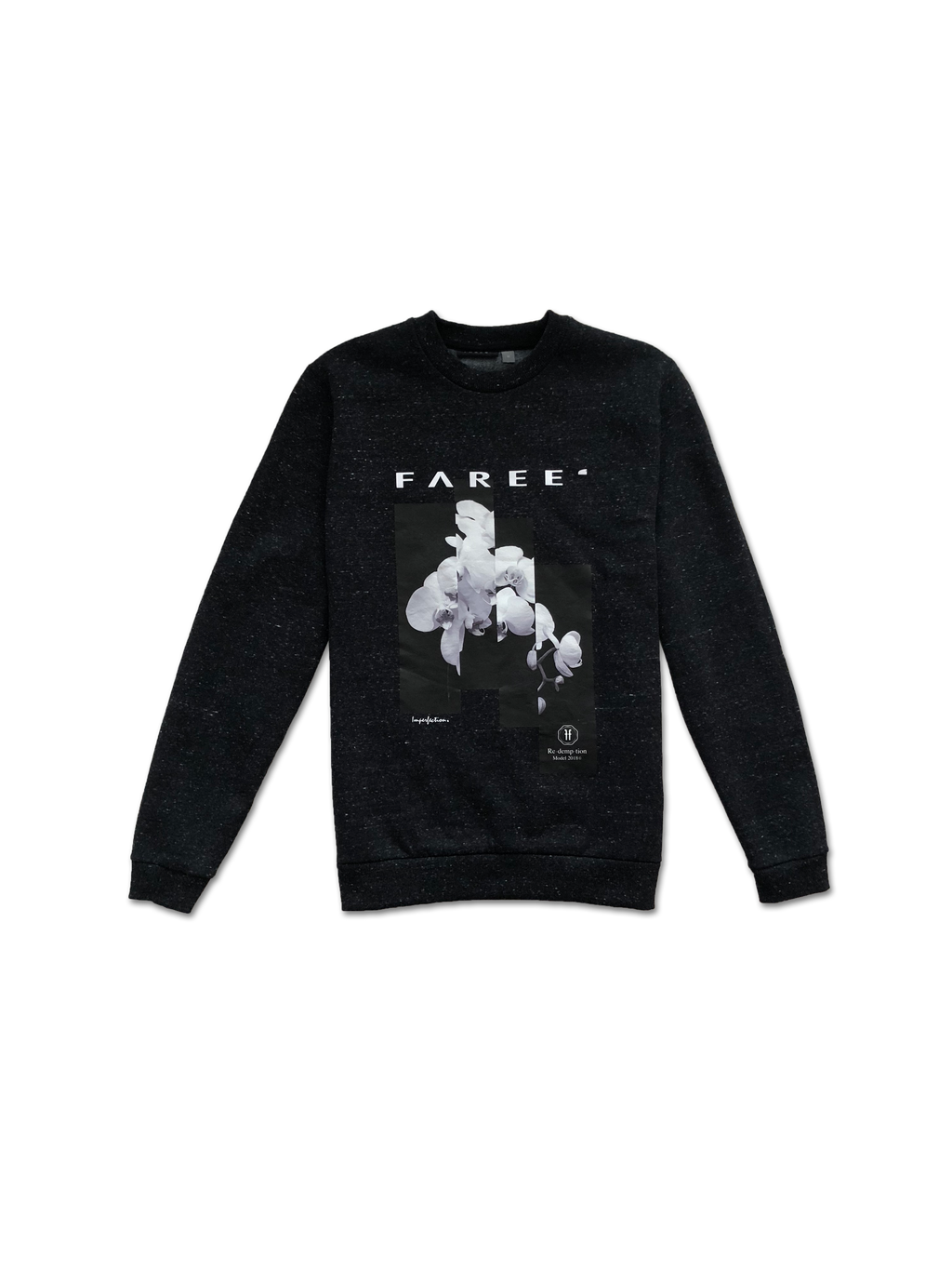 Homme Redemption Imperfection Sweatshirt in Marl Black