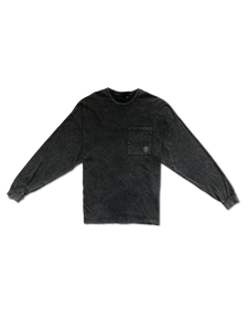 Homme Redemption Washed Mental Slavery Long Sleeve Tee in Grey