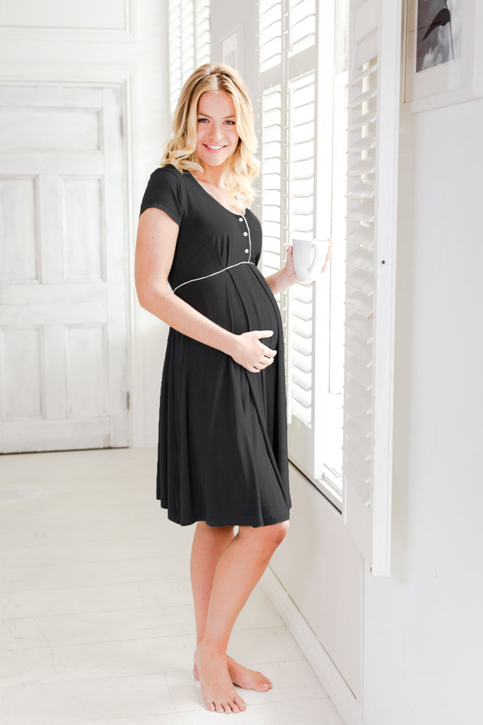 Willa maternity nightdress meteorite Bumpkyn London