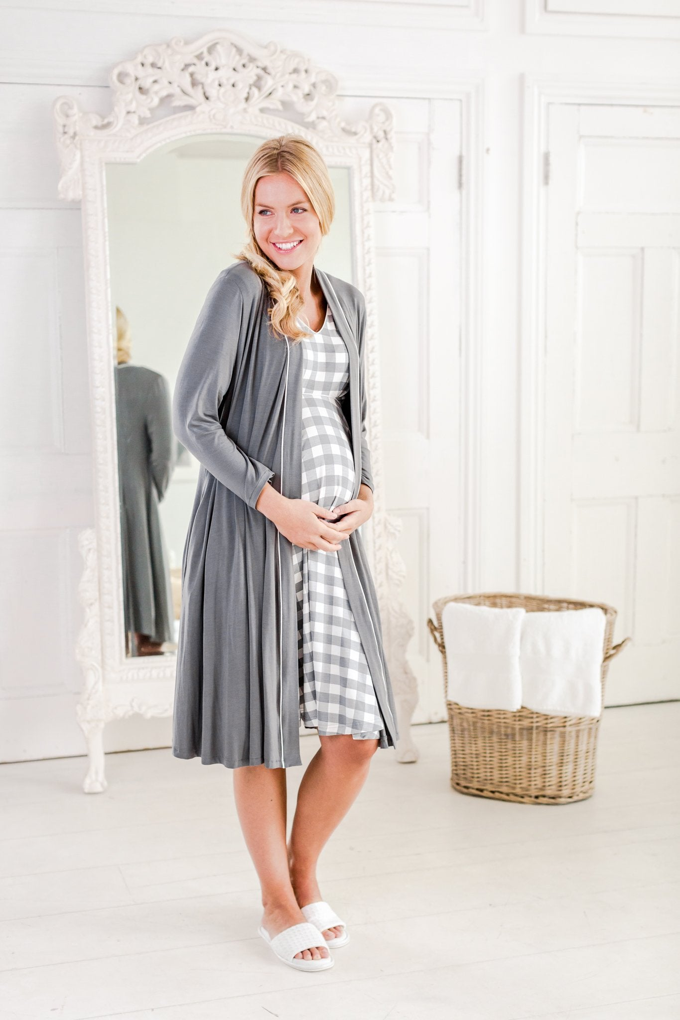 Alix maternity nightdress / maternity loungewear/Horatia maternity dressing gown