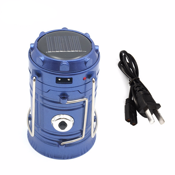 6 LED Survival Lantern Solar Rechargeable With USB Port