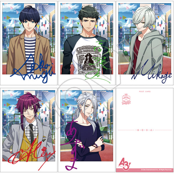 A3! Winter Troupe Casual Ver. Postcard Set