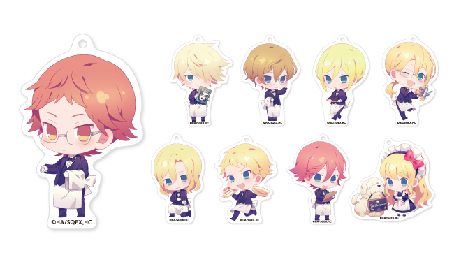 Royal Tutor x Animate Cafe Keyholders