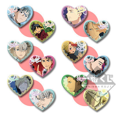 Yuri On Ice!! ~Sweet Time~ Ichiban Kuji Heart Plush Badges