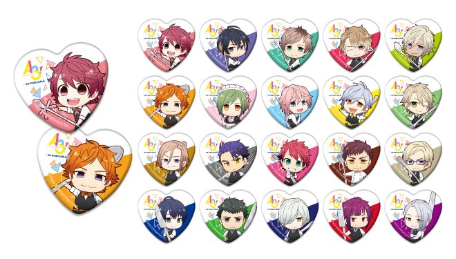 A3! x Animate Cafe Collaboration Pins