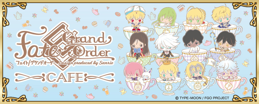 Fate Grand Order x Sanrio Cafe Goods