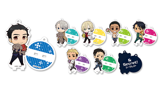 Yuri On Ice!! x Animate Cafe Grand Prix Acrylic Stands