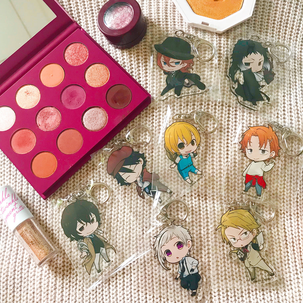 Bungo Stray Dogs x Animate Cafe Acrylic Keyholders