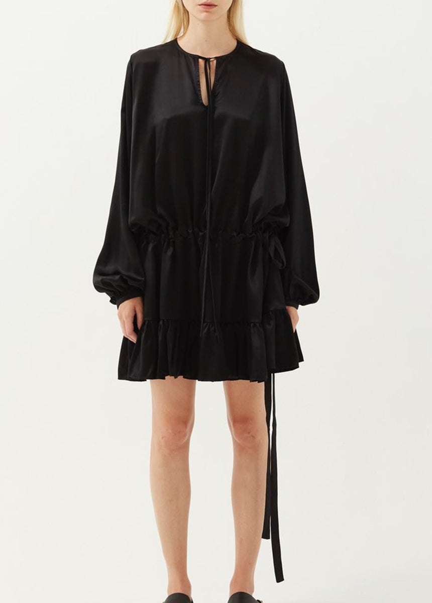 Ede Silk Drawstring Dress