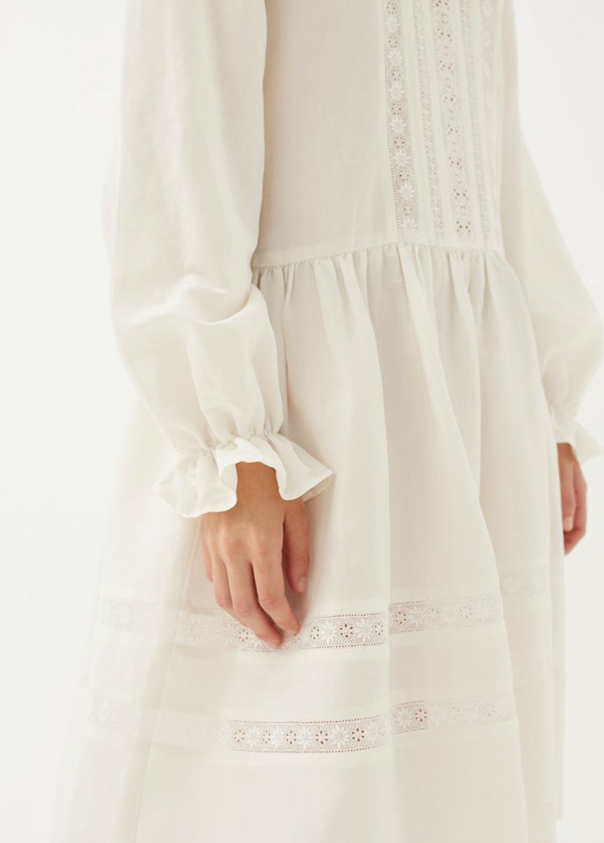 Jissel Lace Trim Dress