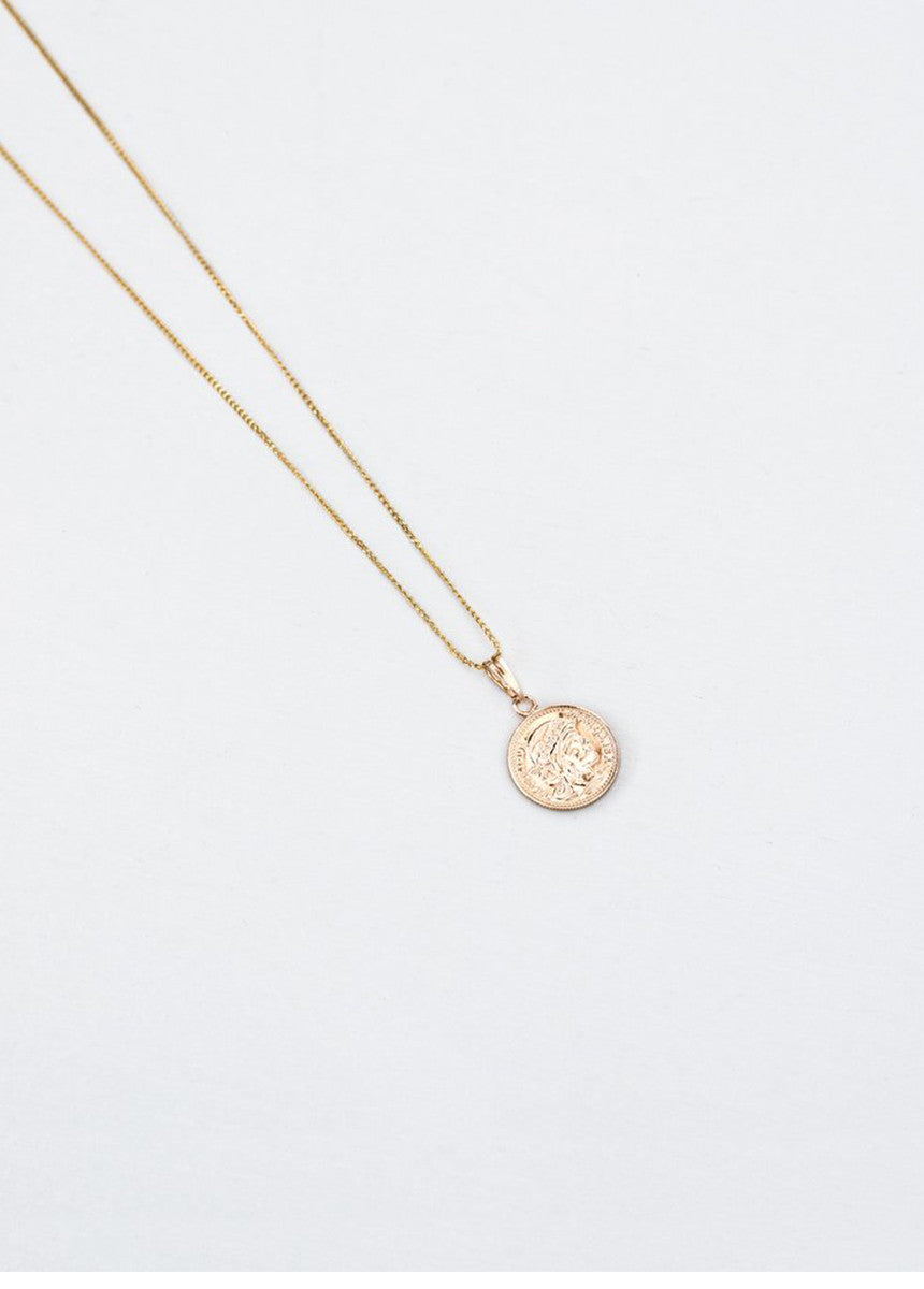 Mini Gold Coin Necklace and Chain