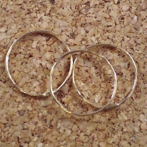 Teeny Tiny Delicate Stacking Rings Set of 3