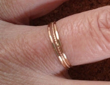 Teeny Tiny Delicate Twisted Stacking Rings