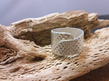 Fine Silver Textured Wrap Ring