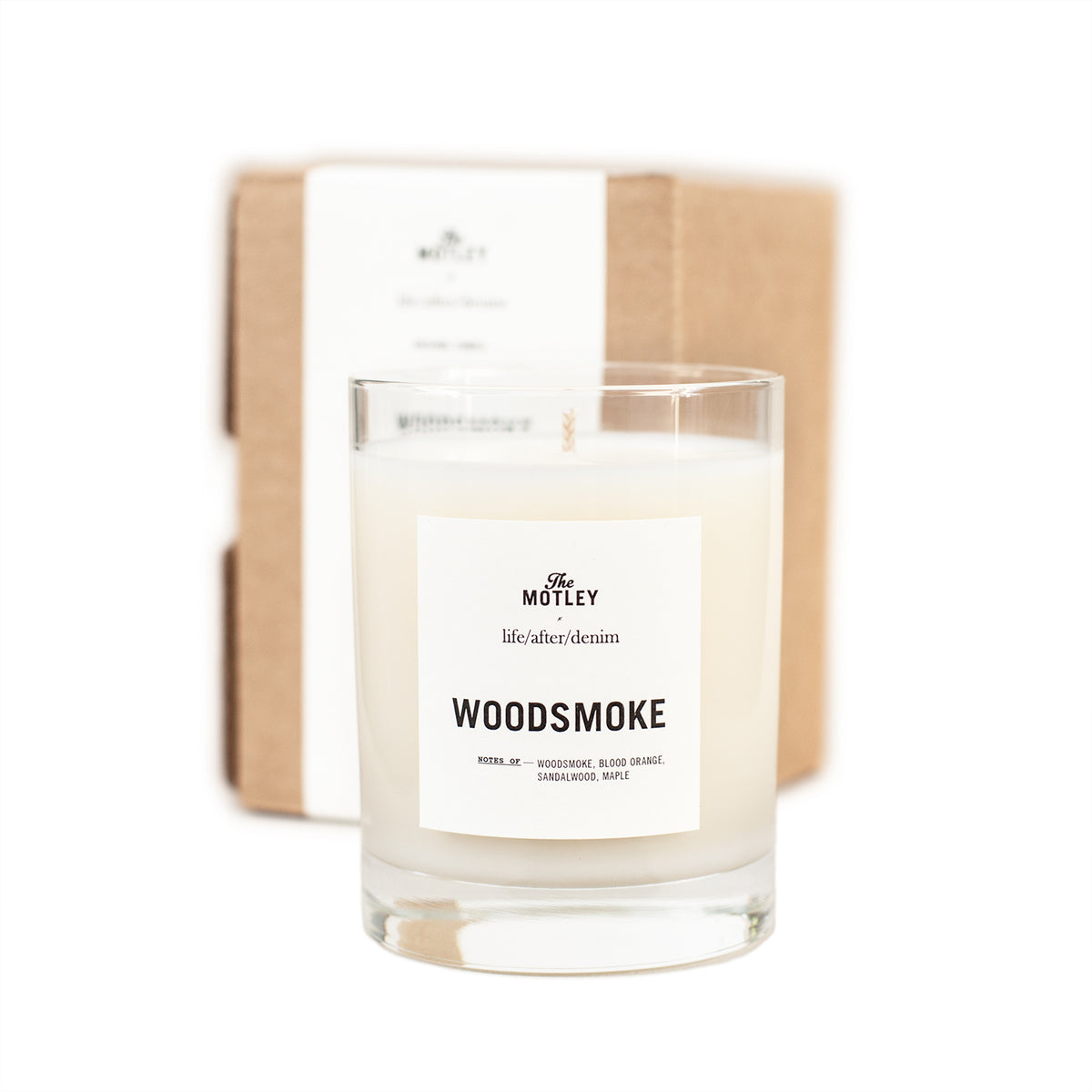 The Motley + life/after/denim 'Woodsmoke' Candle
