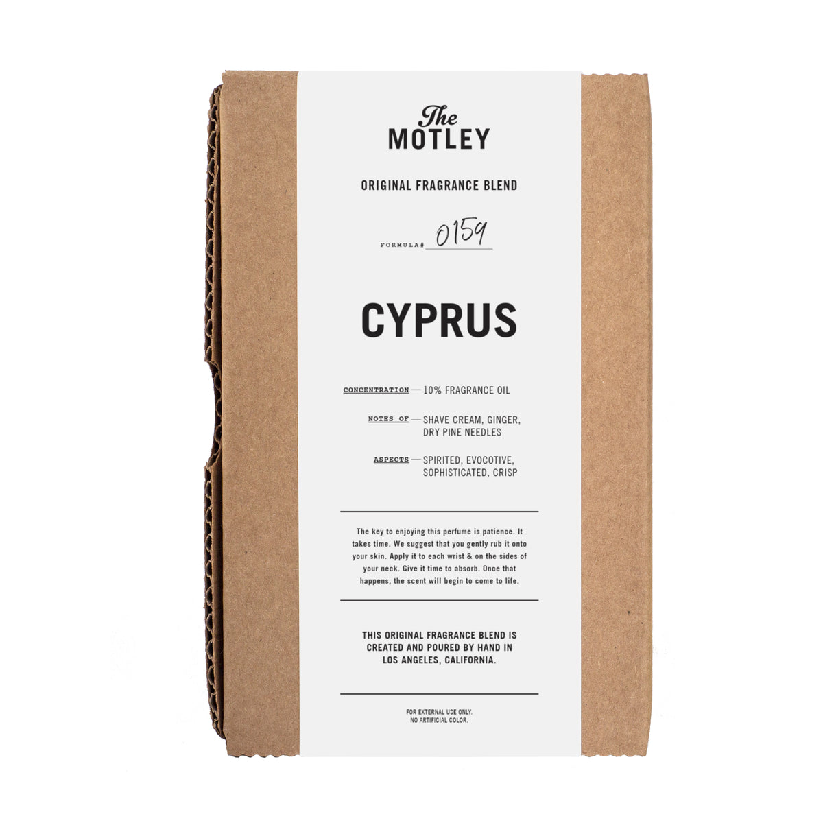 The Motley Cyprus Cologne