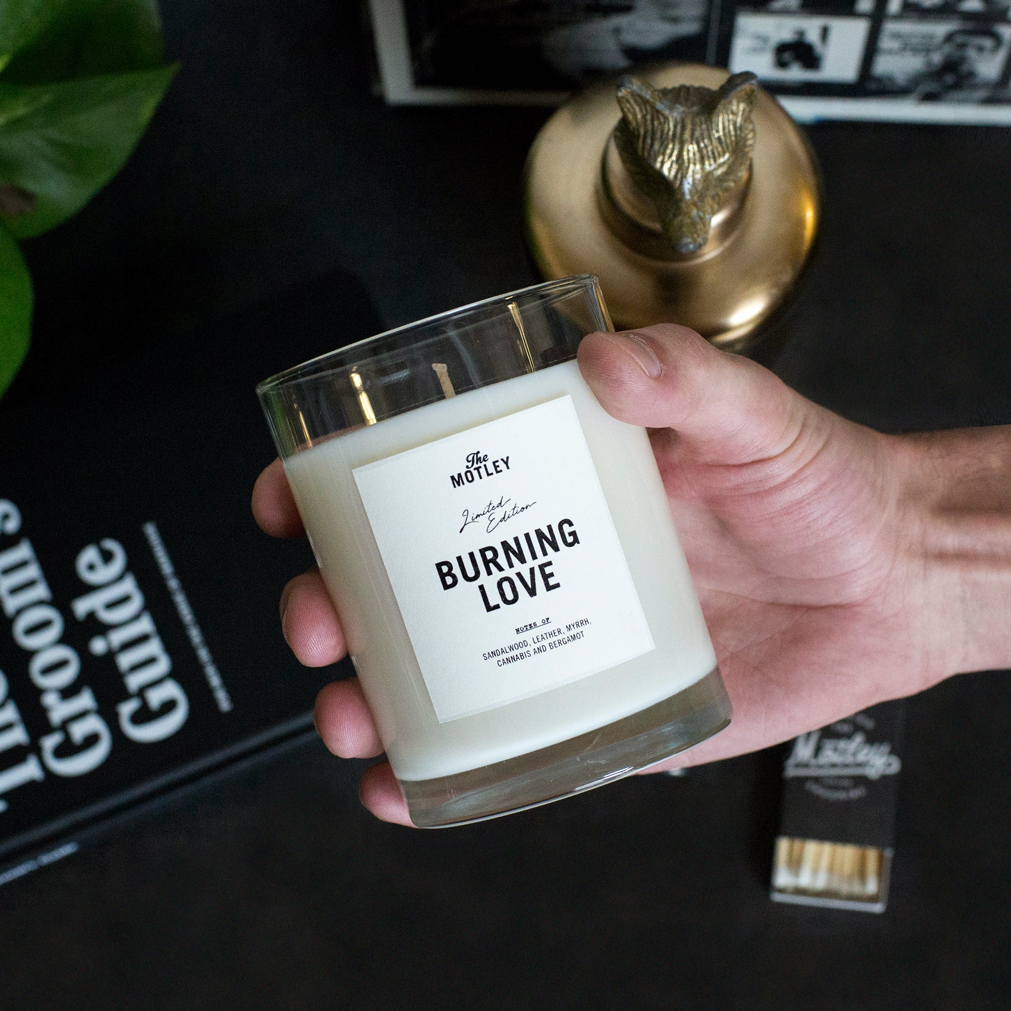 The Motley 'Burning Love' Candle - The Motley