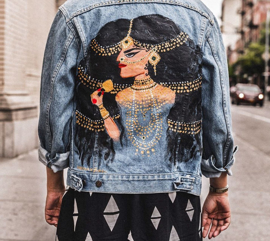 RANI - Hand Painted Vintage Jacket - Babbuthepainter