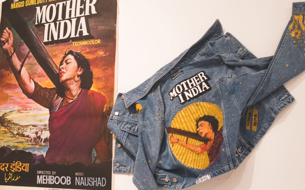 MOTHER INDIA - Hand Painted Jacket - Babbuthepainter