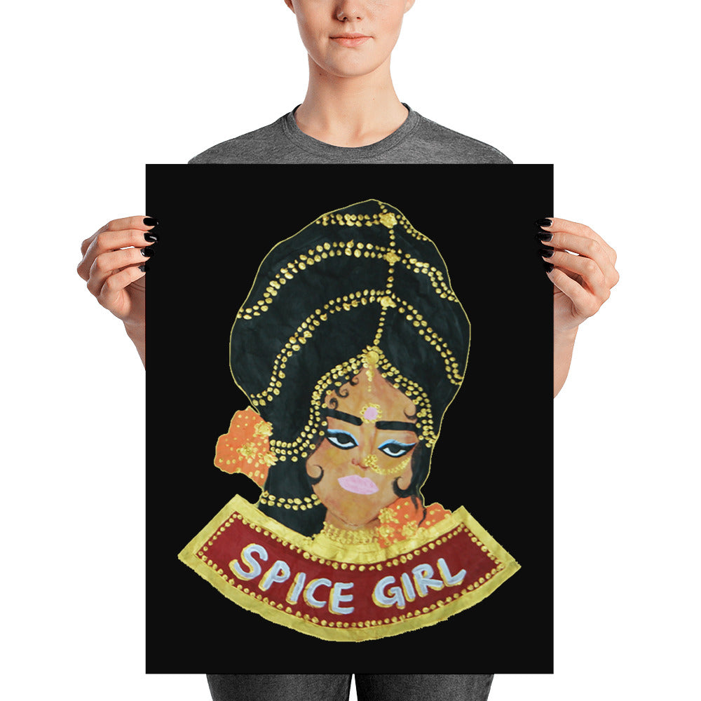 Spice Girl (Black, Orange) Poster - Babbuthepainter