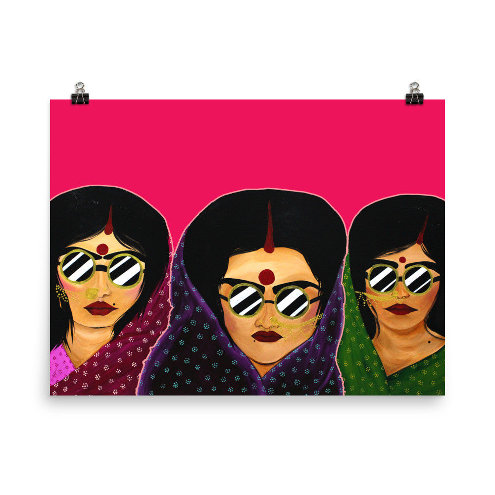 Sisterhood Of The Travelling Saris - Poster - Babbuthepainter