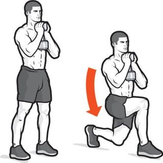 Goblet Reverse Lunges are great for starting the morning