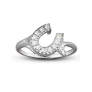 Offset Horseshoe Ring