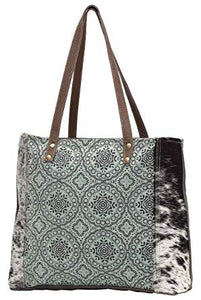 Myra Bag Floral Chic Canvas Tote S-0933