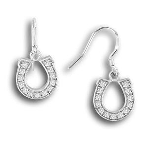 Dangle Horseshoe Earrings