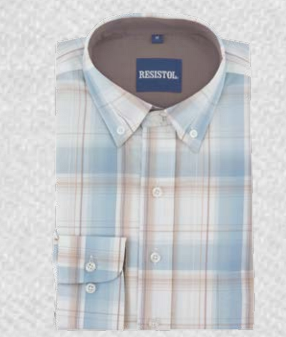 'Blue Plaid' Resistol Button-up
