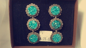 Inlaid Crushed Turquoise Rounds