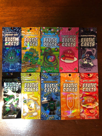 exotic carts foil packaging