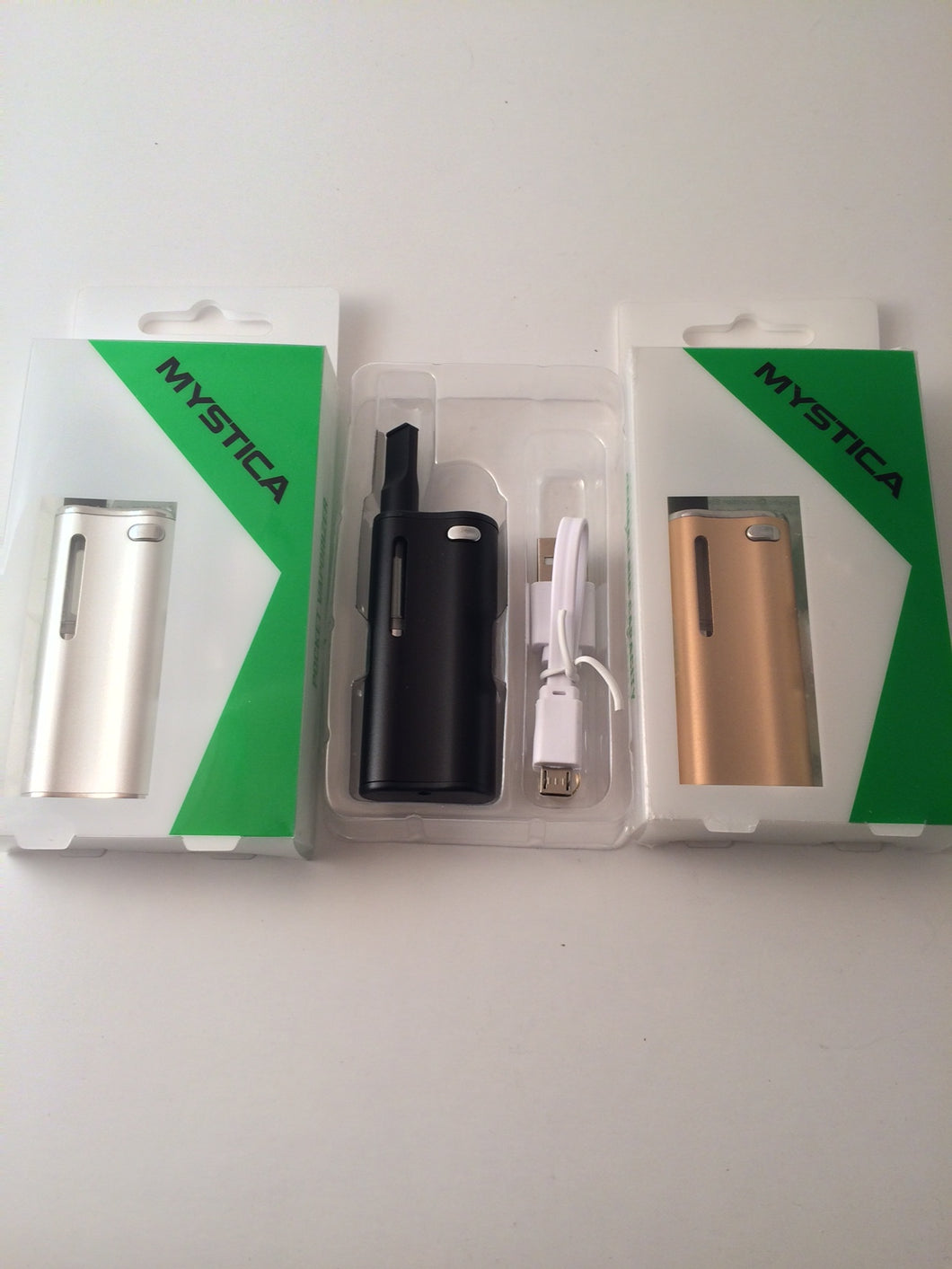 Magnetic - Concealable 650mah Vape Battery Kit (Black, Silver, Gold