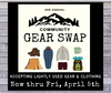2nd Annual Community Gear Swap Dates Announced