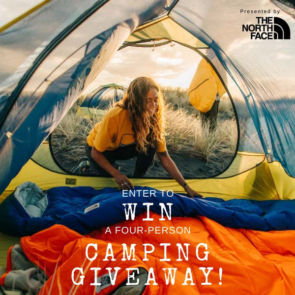 WIN a 4-person family camping giveaway!