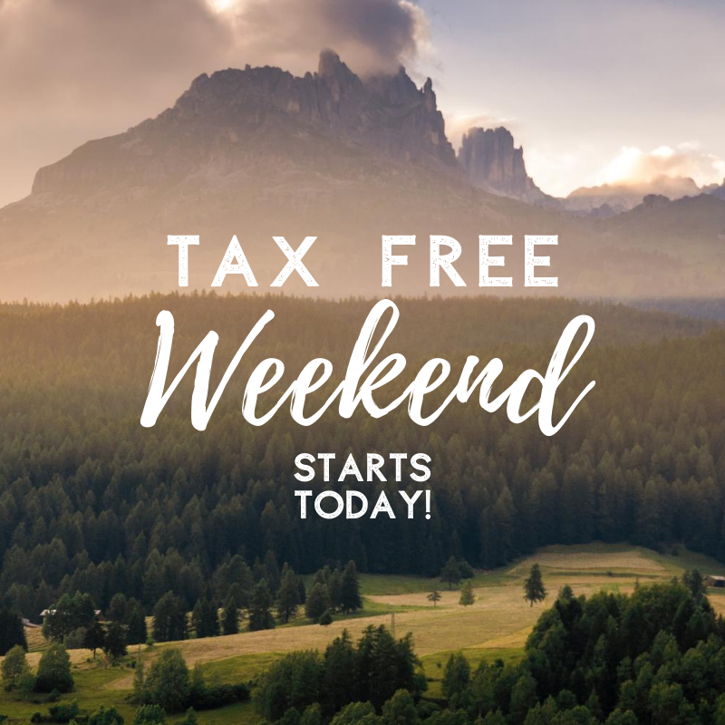 Tax Free Weekend - August 7th through 9th