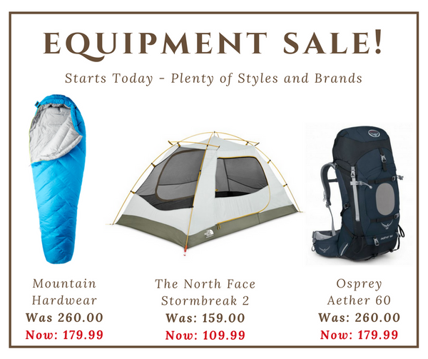 Equipment Sale!
