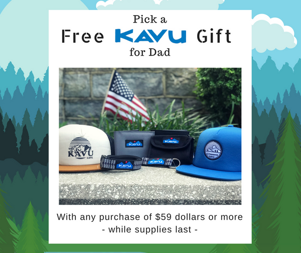 Free gift with purchase for Dad!