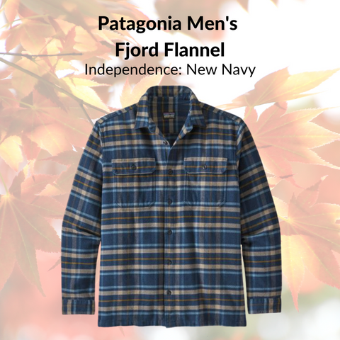 Patagonia Men's  Fjord Flannel (Independence: New Navy)