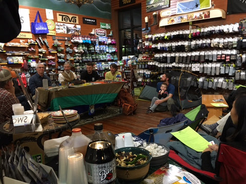 Great hiker panel at Walkabout Outfitter